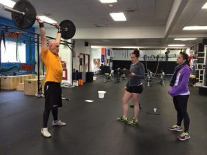 More than halfway through the WOD and my form was still good, full depth in the squat and full lock-out with the press.